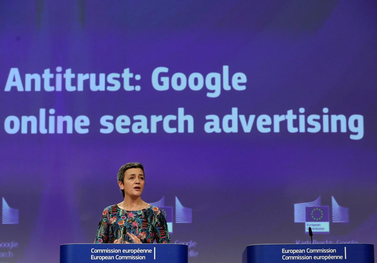 Нахитрый Google отыщется европейская комиссия соштрафными санкциями