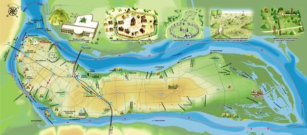 Карта Хортицы / Фото hortica.zp.ua