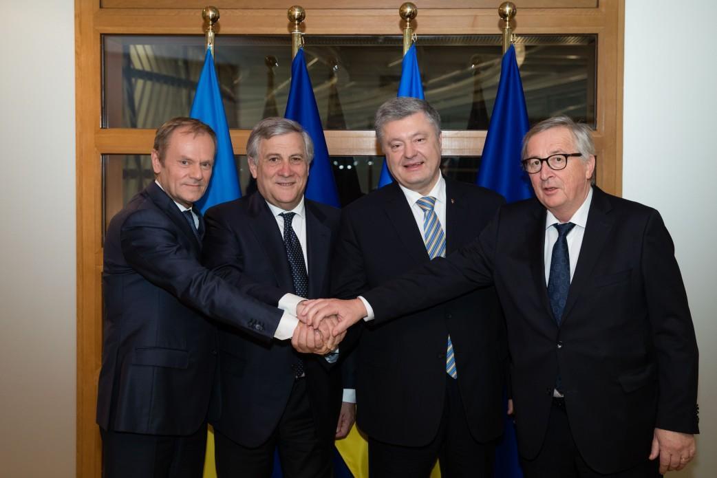 Tusk, Tajani, Poroshenko, Juncker (from left to right) / Photo from president.gov.ua