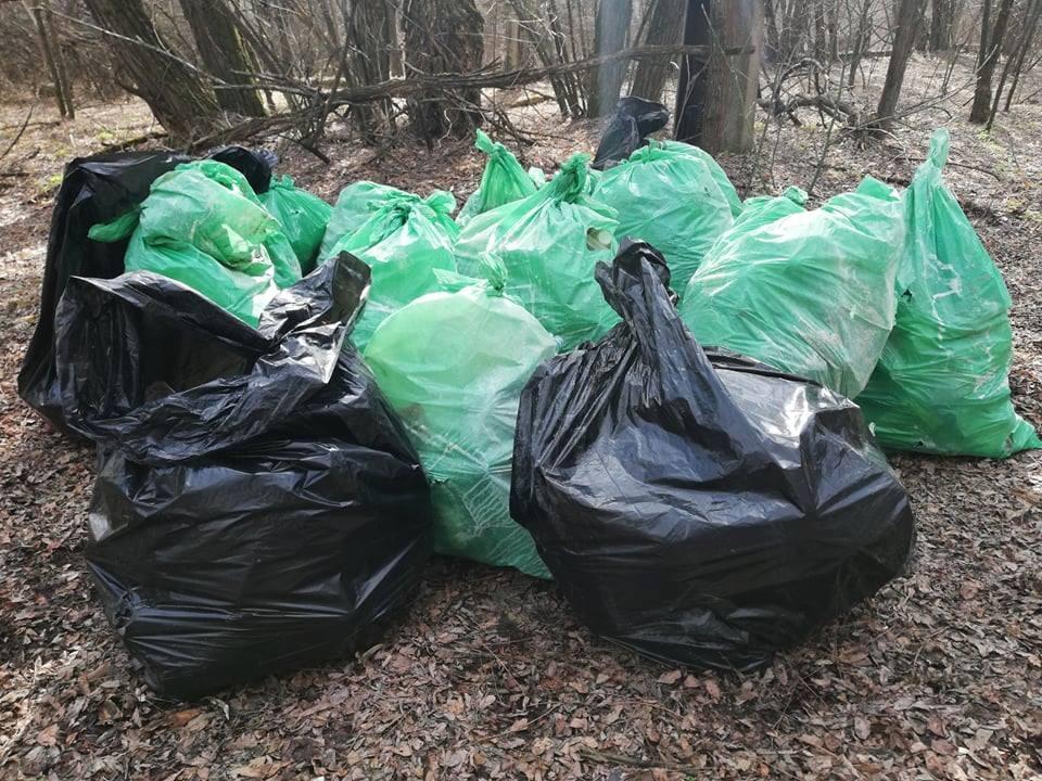 Было собрано несколько кубометров мусора \ Госагентство по управлению зоной отчуждения
