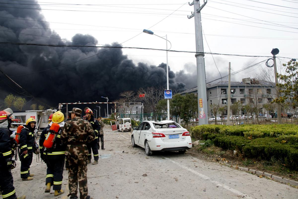 Взрыв на химзаводе в Китае / REUTERS