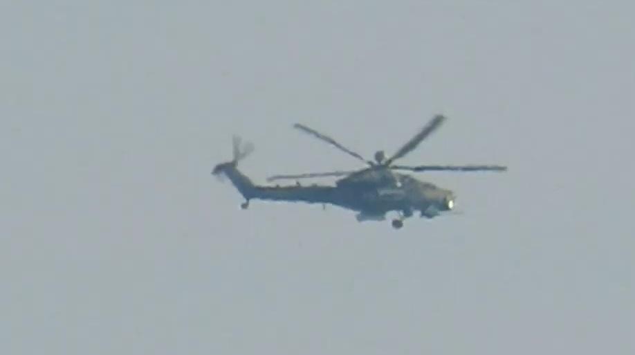 Вертолет работает в паре с Ми-24/35 / Скриншот