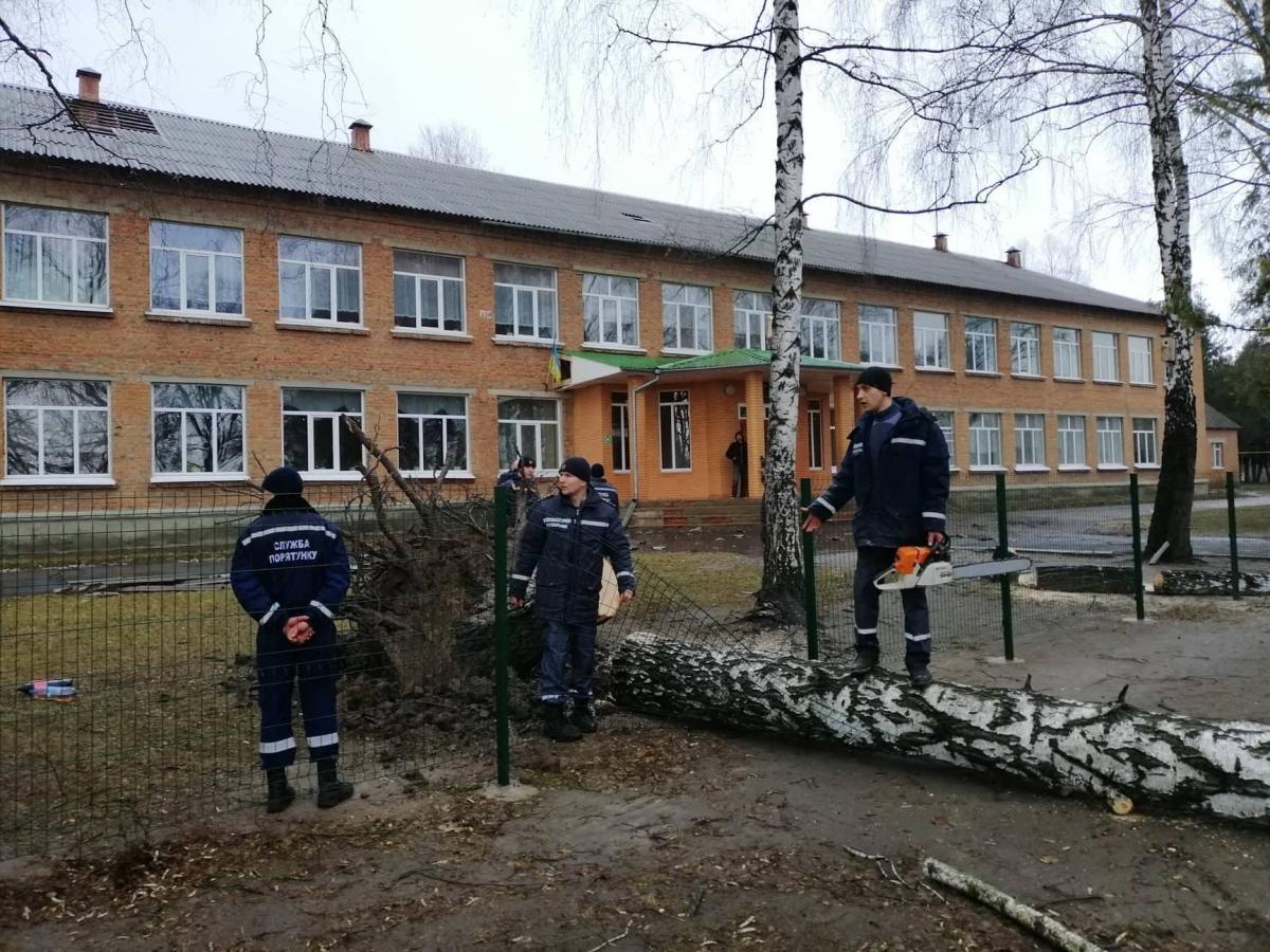 Наслідки буревію в Ромнах / фото facebook.com/romny.vykonkom