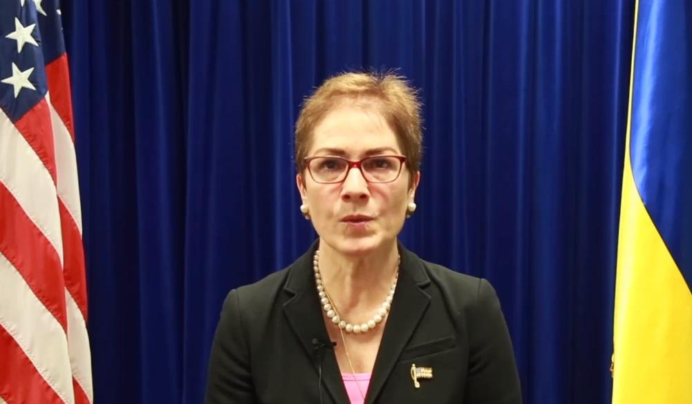 Марі Йованович звернулася до українців перед виборами президента / Скріншот - Facebook. U. S. Embassy Kyiv Ukraine