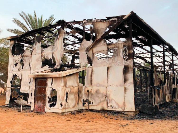 Соколи згоріли у добудові, в яку влучила блискавка \ gulfnews.com
