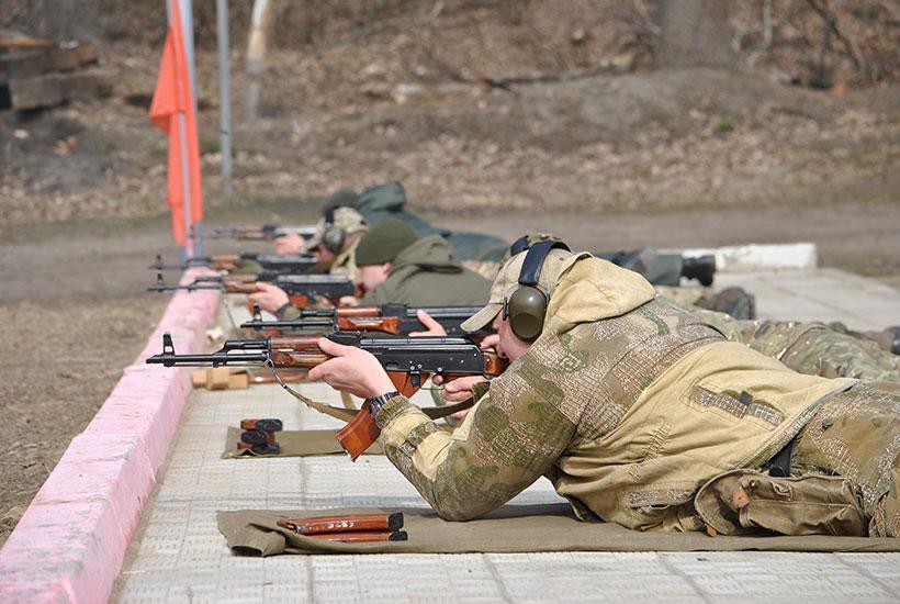 Кожна з п'яти команд складалася з восьми гвардійців \ Нацгвардія