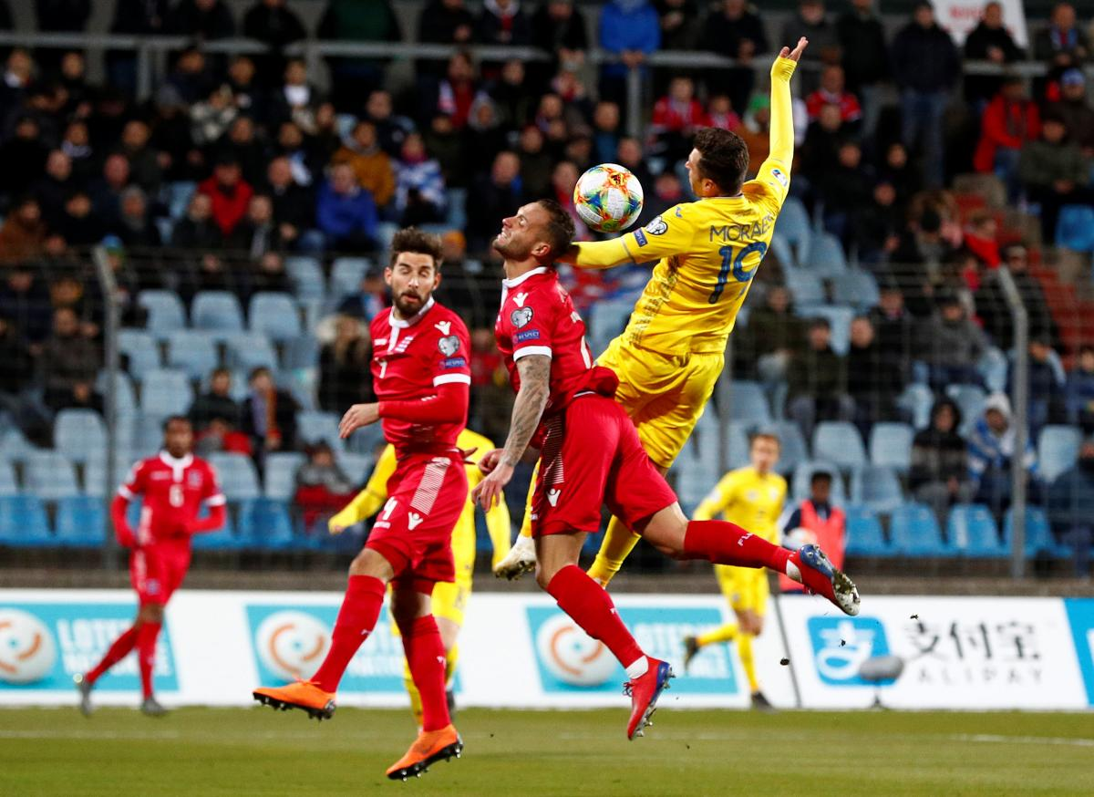 Сборная Украины все-таки наиграла на победу в матче с Люксембургом / Reuters