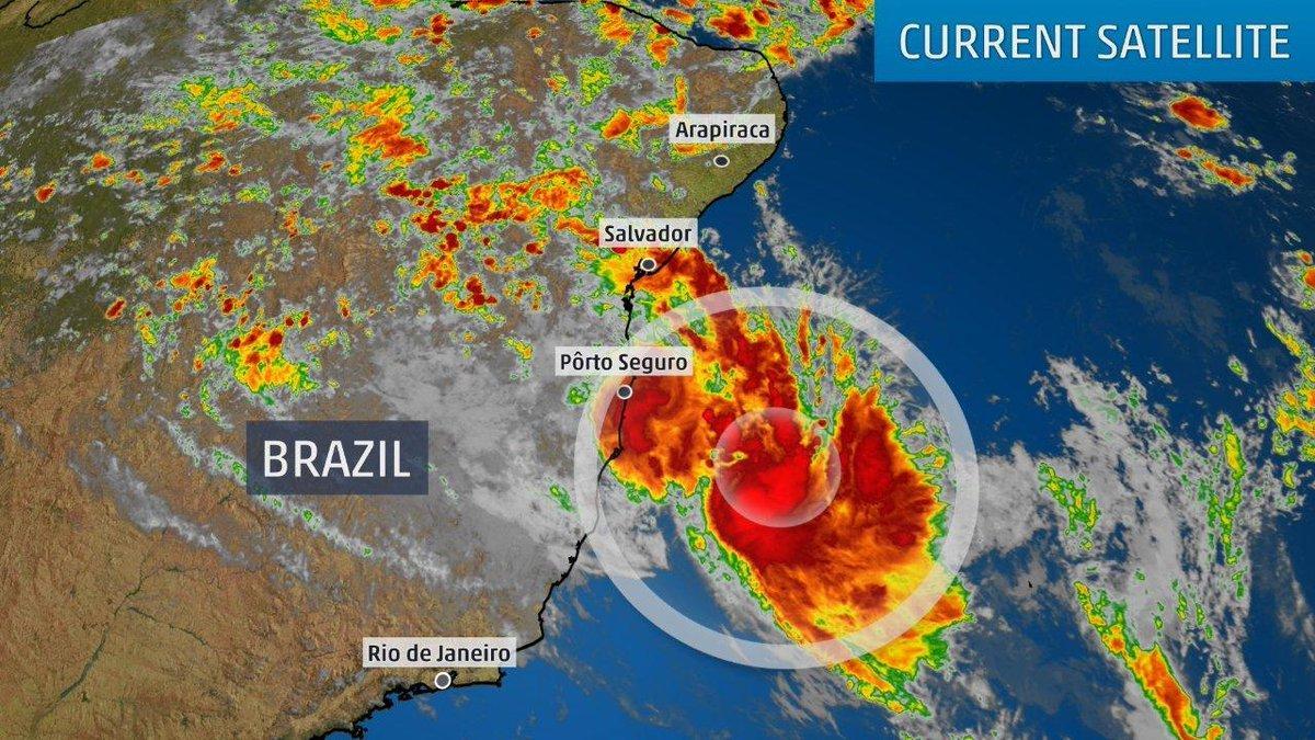 Біля берегів Бразилії сформувався тропічний циклон / twitter.com/weatherchannel