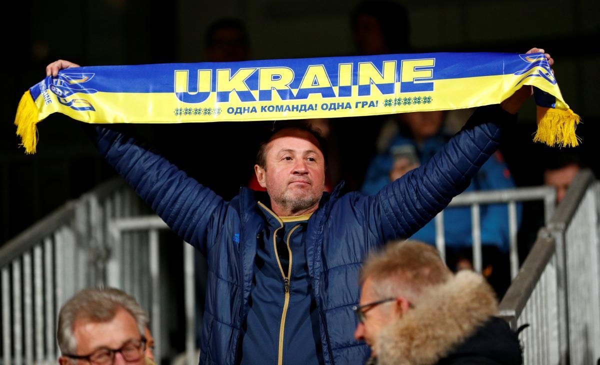 Болельщик сборной Украины / REUTERS