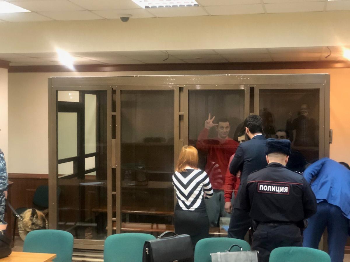 «Суд» в Москве над пленными моряками был закрытым / фото УНИАН