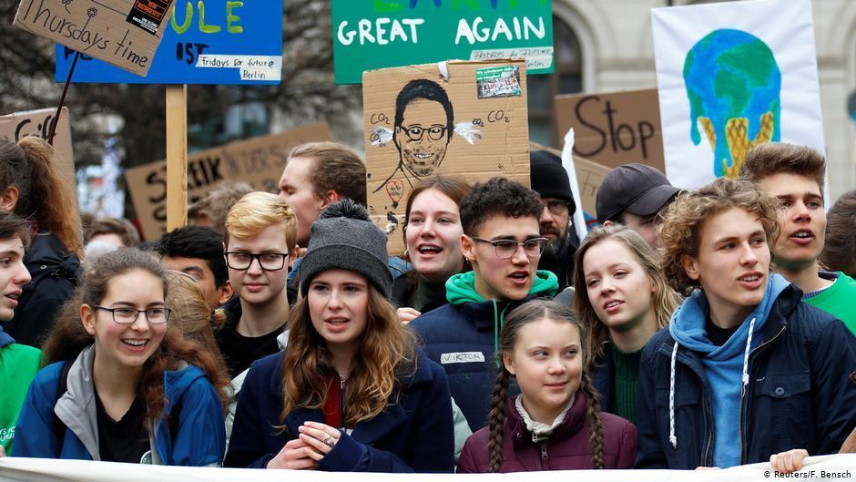 Грета Тунберг на акції/ фото REUTERS