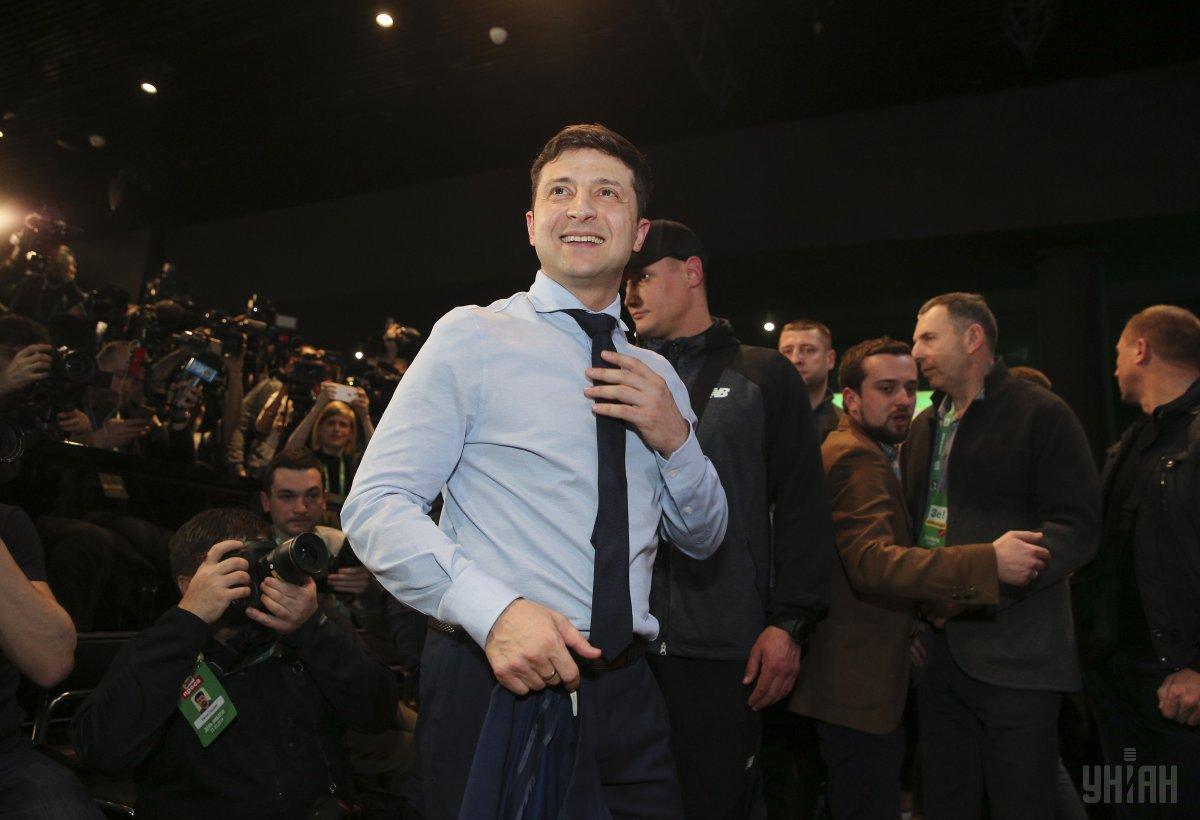 По данным экзит-пола, за Зеленского в первом туре проголосовали 30,9% / фото УНИАН