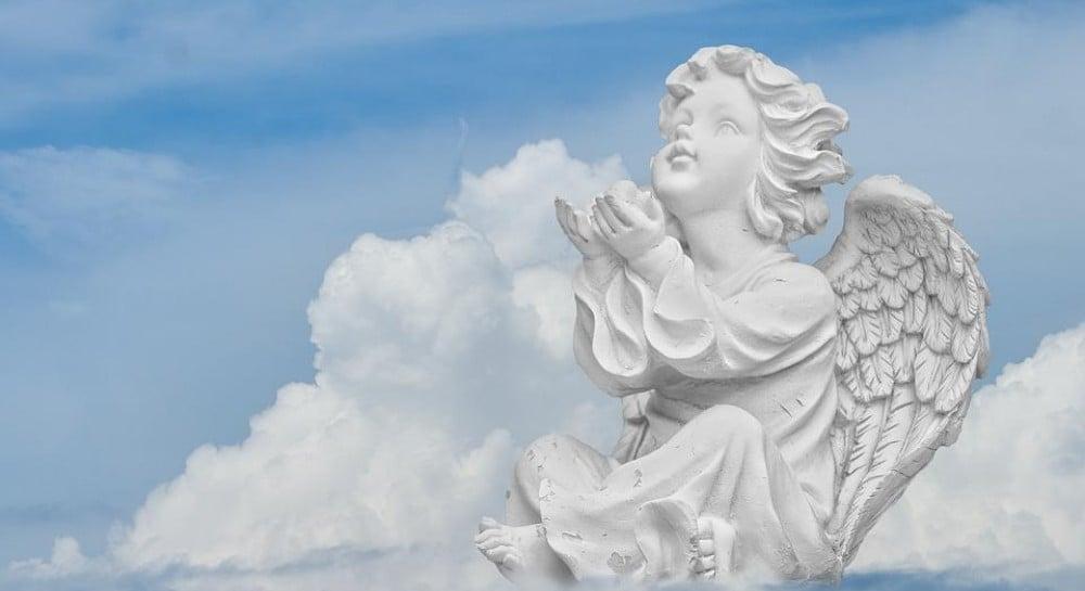 Анимация, открытка с неба ангелы