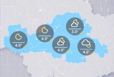 Прогноз погоди в Україні на п'ятницю, вечір 22 березня