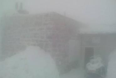 У розпал весни Карпати замітає снігом (фото)