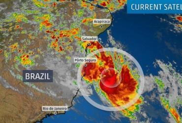 Біля берегів Бразилії сформувався перший з 2010 року тропічний циклон