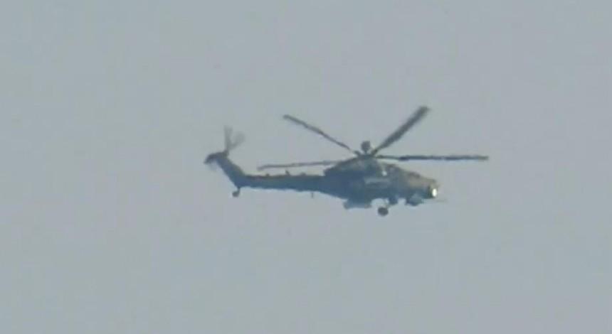 В Сирии заметили новейший российский вертолет (видео)
