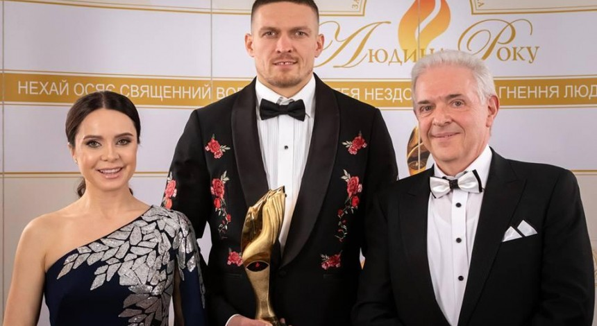 Усик награжден премией лучшему спортсмену 2018 года в Украине