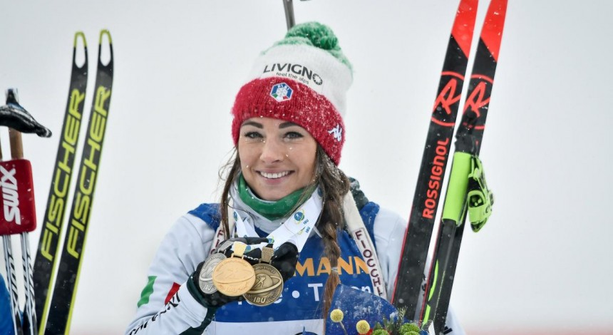 Шведка Эберг победила в заключительной гонке сезона, итальянка Вирер выиграла Кубок мира по биатлону
