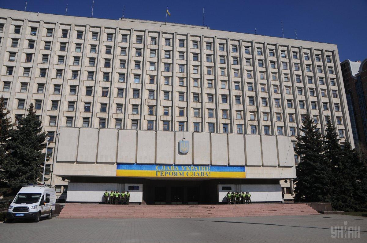 """Здание ЦИК """"заминировали"""" второй раз за день / фото УНИАН"""