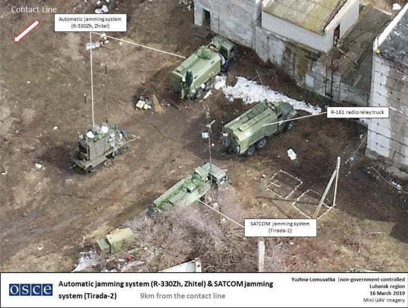 The systems are based near Yuzhna Lomuvatka, Luhansk region / Photo from OSCE Twitter