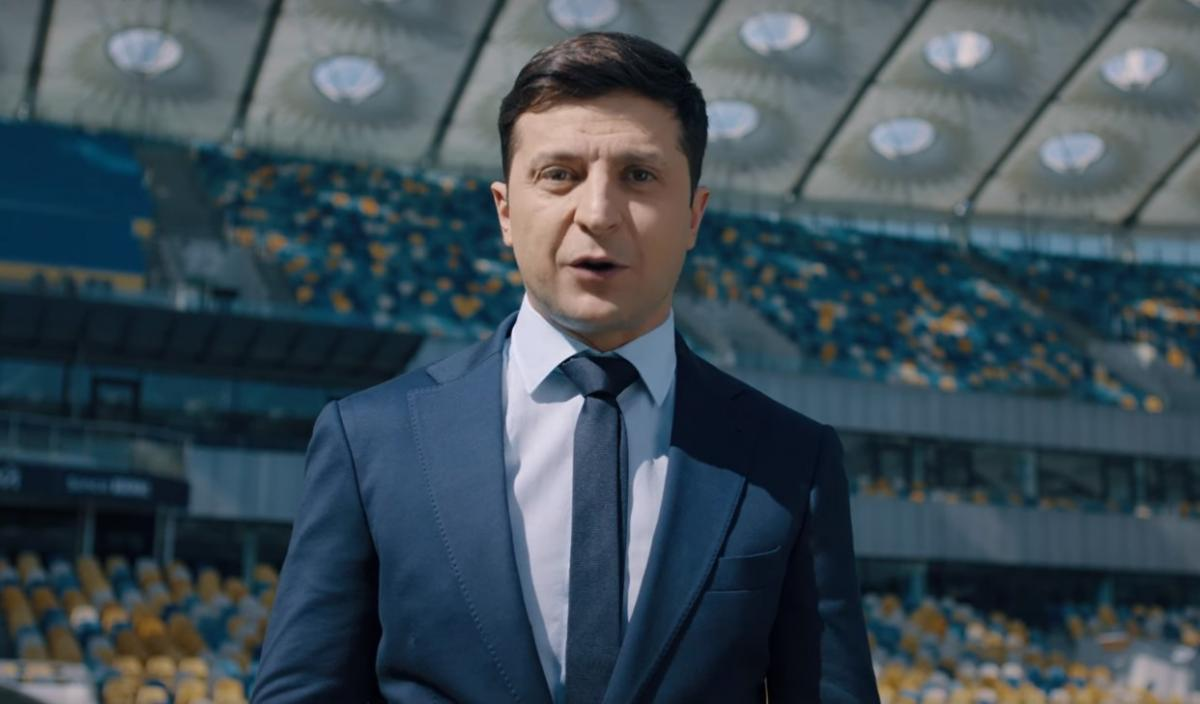 Volodymyr Zelensky at Olympiyskiy / Screenshot