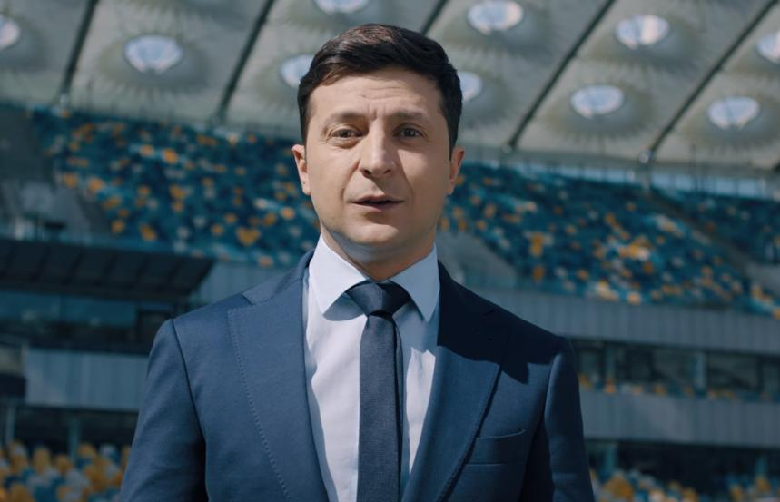One of the two candidates, Volodymyr Zelensky / Screenshot