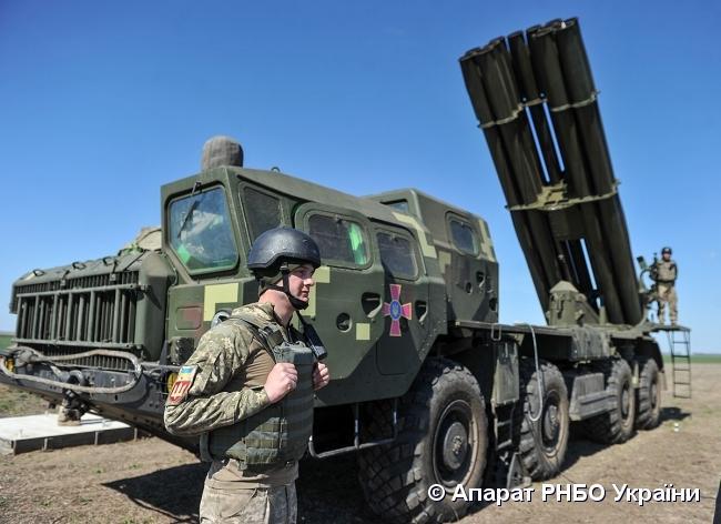 Во время испытаний была проверена точность ракет и эффективность уничтожения цели / пресс-служба СНБО