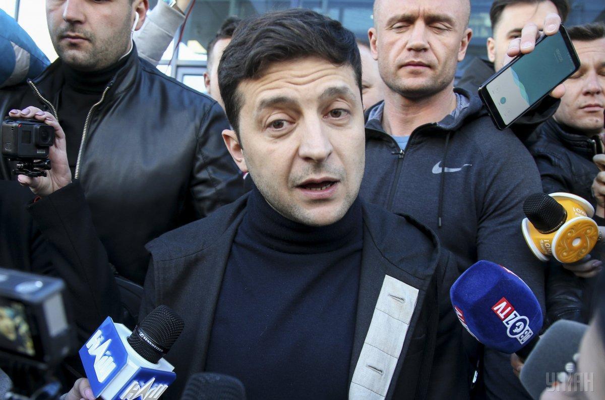 11 квітня в штабі Зеленського заявили, що їхньому кандидату можуть посилити охорону / УНІАН