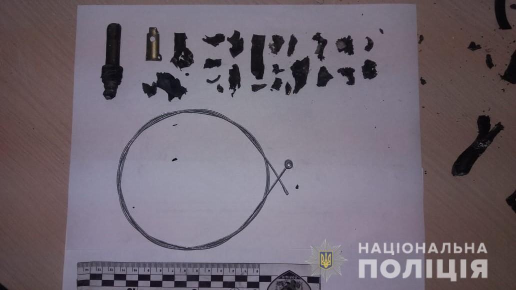 Взрывное устройство активировали дистанционно, с использованием велосипедного троса / фото hk.npu.gov.ua