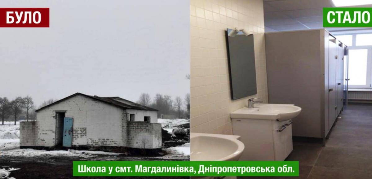 В Украине функционируют школы, где нет туалетов в помещениях / фото facebook/lev.partskhaladze