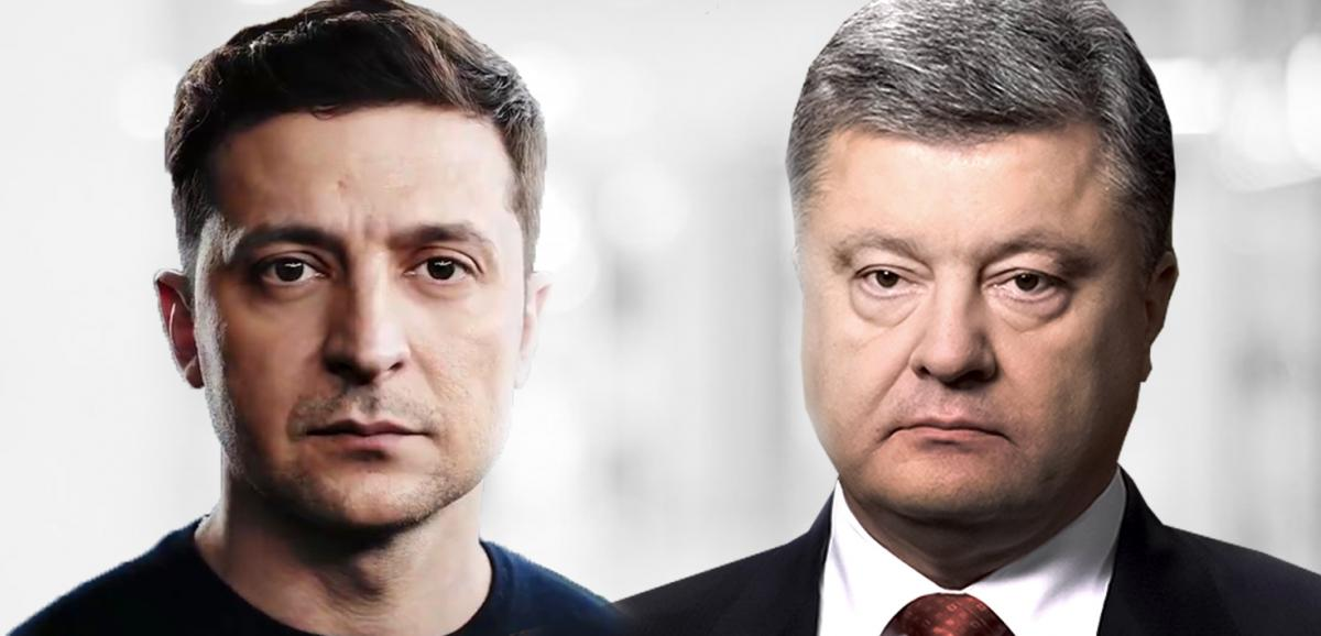 Zelensky is ahead of Poroshenko / Image from UNIAN