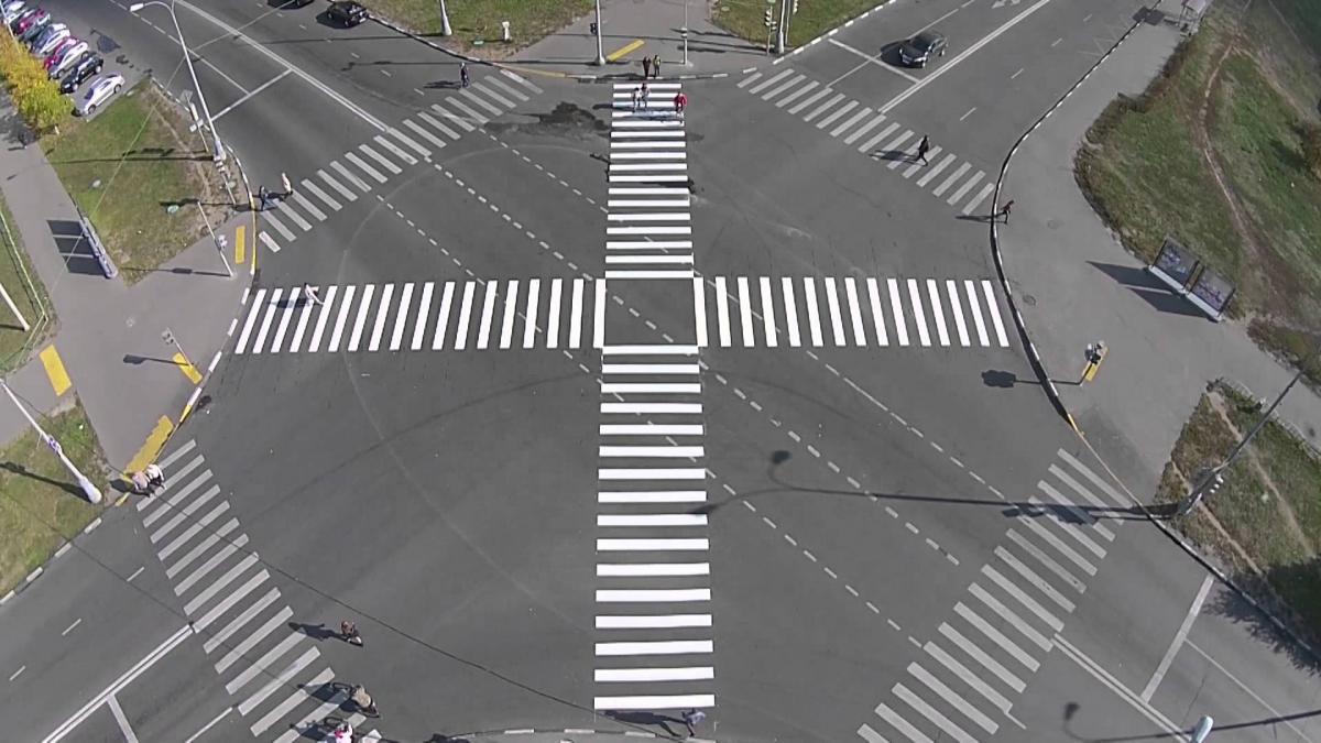 Благодаря диагональным переходам риск аварий на дорогах уменьшается до 10% / фото ksonline.ru