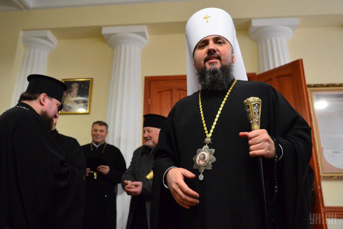 Епифаний отметил, что патриарх Филарет является для него моральным авторитетом / фото УНИАН