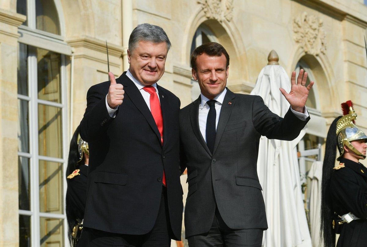 Порошенко встретился с Макроном / фото twitter.com/poroshenko