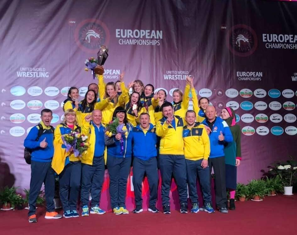 Женская сборная Украины по борьбе - лучшая в Европе! / ukrwrestling.com.ua