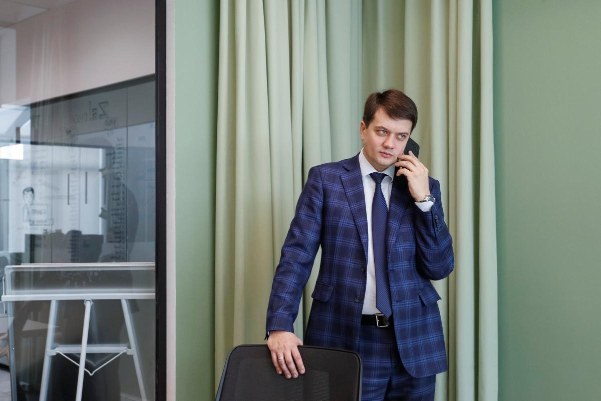 Спикер предвыборного штаба Зеленского Дмитрий Разумков / REUTERS