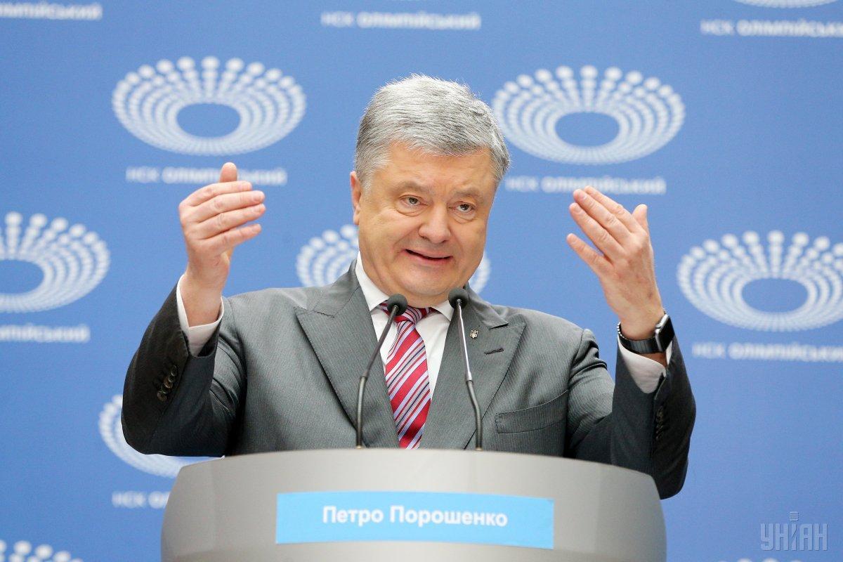"""Порошенко вчора відповідав на запитання на """"Олімпійському"""" / фото УНІАН"""
