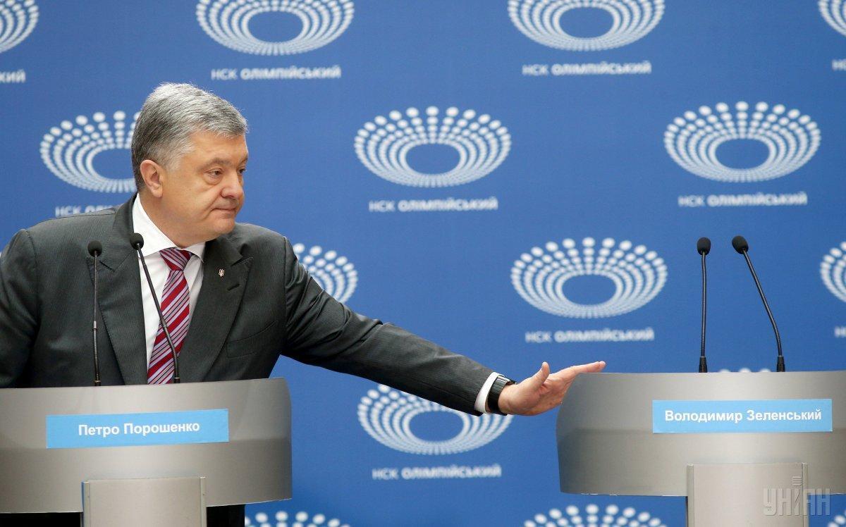 """Зеленський раніше повідомив, що чекає на Порошенка19 квітня на """"Олімпійському"""" / фото УНІАН"""