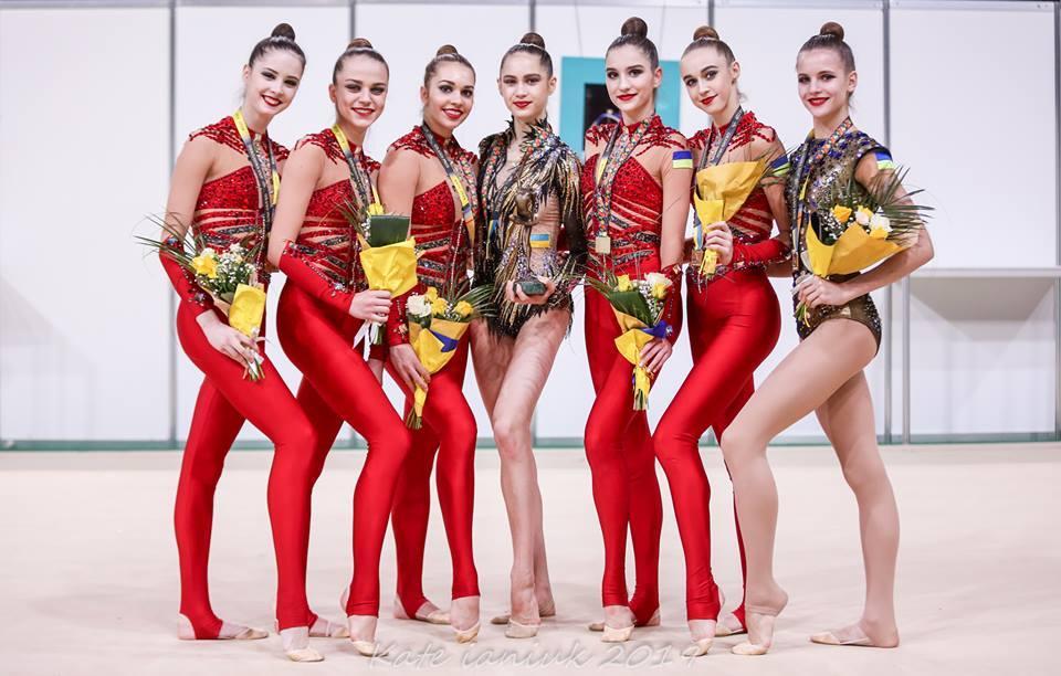 Украинские гимнастки выиграли этап Кубка мира в Софии / Ukrainian Rhythmic Gymnastics Federation