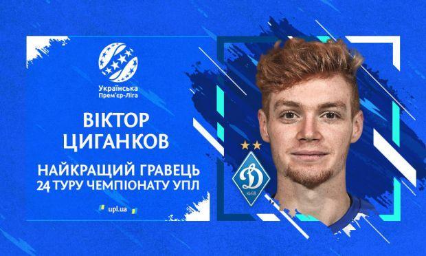 Віктор Циганков - найкращий гравець 24-го туру УПЛ / upl.ua