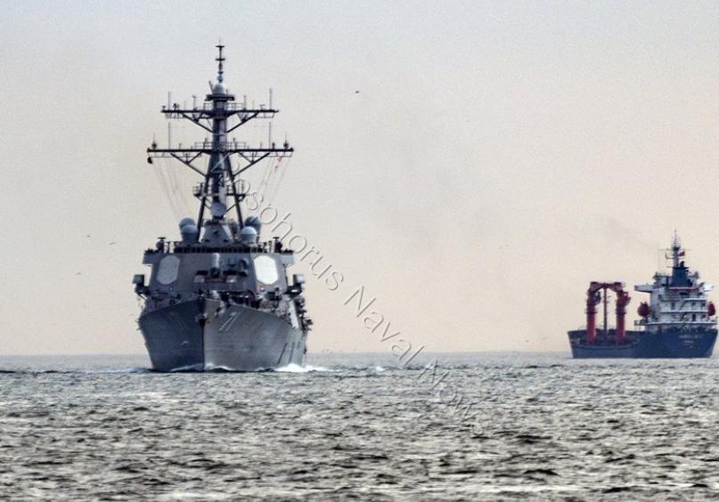 Американський есмінець увійшов до Чорного моря / фото twitter.com/Saturn5