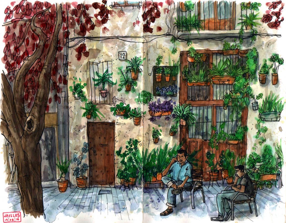 Иллюстрация улицы Allada Vermell / Фото flickr.com