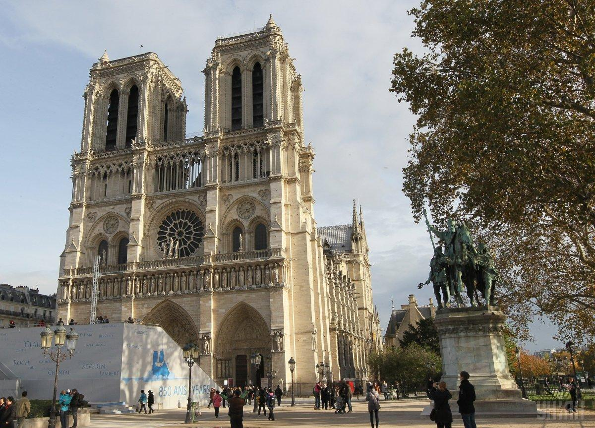 Нотр-Дам в Париже до пожара / фото УНИАН