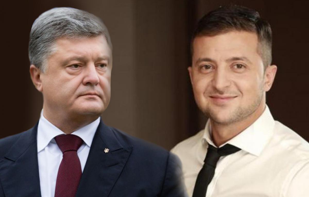 Зеленський перемагає Порошенка з величезним відривом / колаж УНІАН