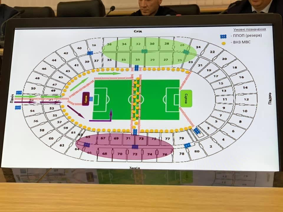 """Вероятная схема размещения сцен и зрителей во время дебатов на НСК """"Олимпийский"""" / фото facebook.com/zurab.alasania"""