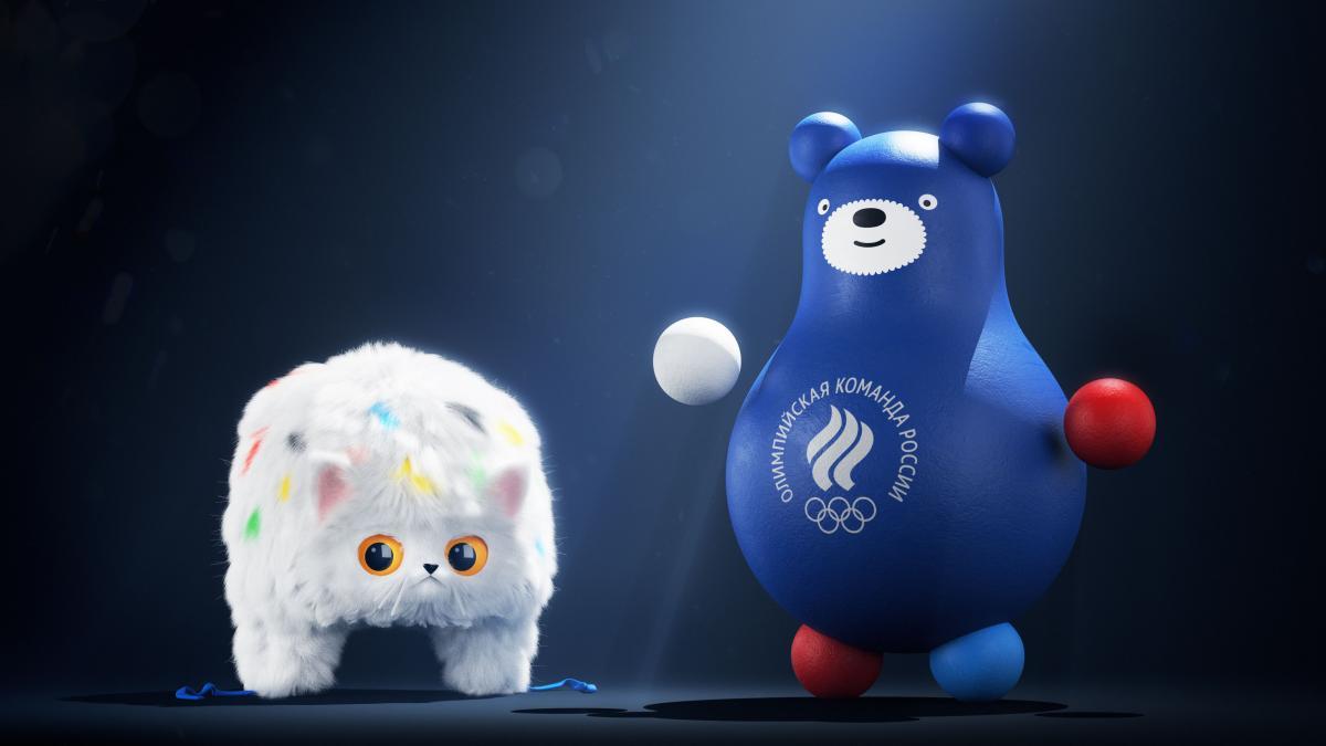 В России презентовали маскотов олимпийской сборной / фото: artlebedev.ru