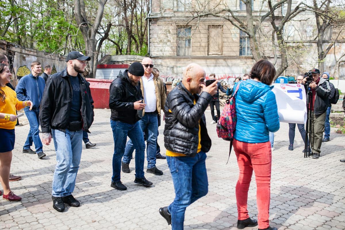 Найему досталось в Одессе / фото УСИ