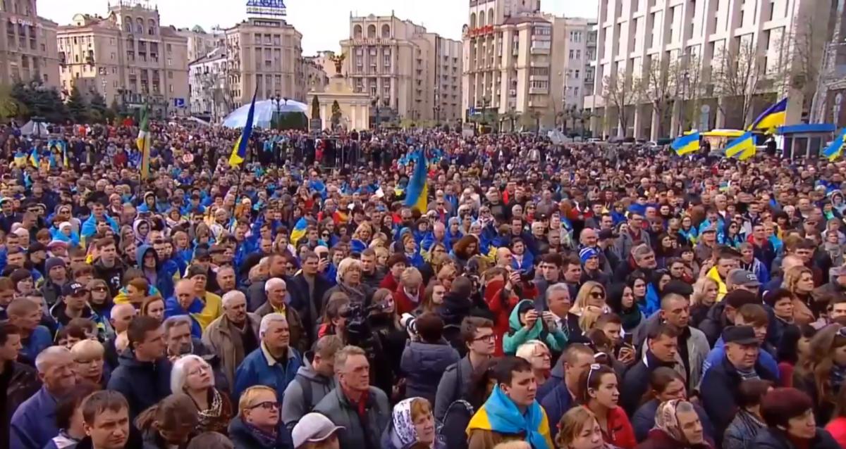 Активисты хотят услышать от кандидата в президенты Владимира Зеленского во время дебатов его видение будущего развития государства / скриншот