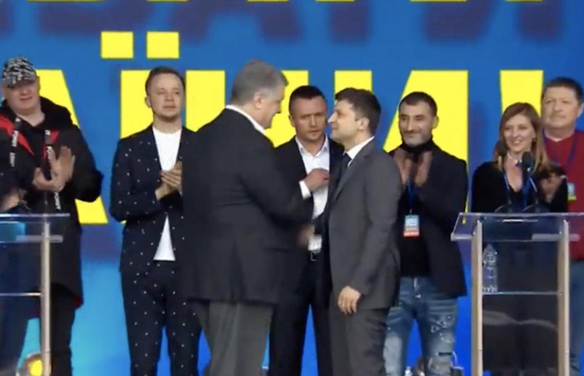 Кандидаты пожали руки / скриншот
